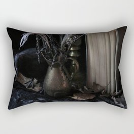 The Raven and the Departed Bouquet Rectangular Pillow