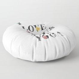 JESUS AND YOGA Floor Pillow