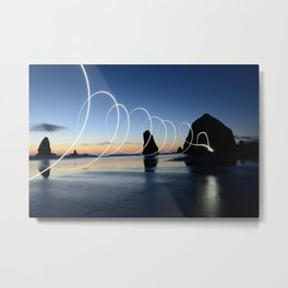 Ocean light rays Metal Print
