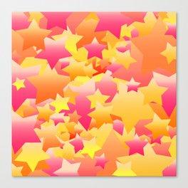 Bubble Stars Sherbet Canvas Print