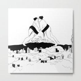 sumo time Metal Print