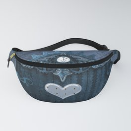 A touch of steampunk with elegant heart Fanny Pack