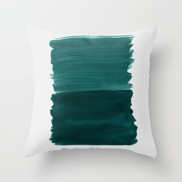 Dark Teal Emerald Abstract Minimalism #3 #minimal #ink #decor #art #society6 Throw Pillow