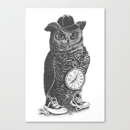 Owl Skool Canvas Print