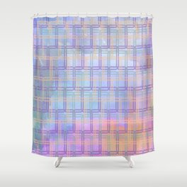 Rounded Squares in Pastel Shower Curtain