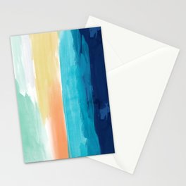 Abstract Paint Ocean Sunset 2 Stationery Cards
