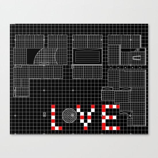 Architectural Print - Ceiling Plan - LOVE Canvas Print