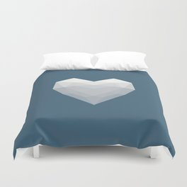 Modern Love - White on Blue Duvet Cover
