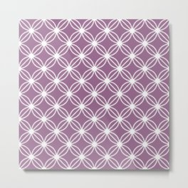 Abstract Circle Dots Purple Metal Print