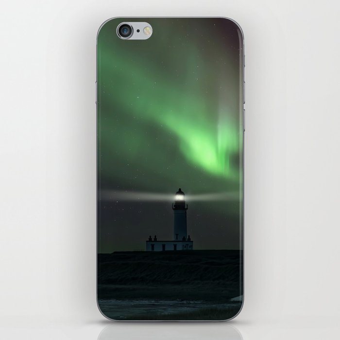 When the northern light appears iPhone Skin