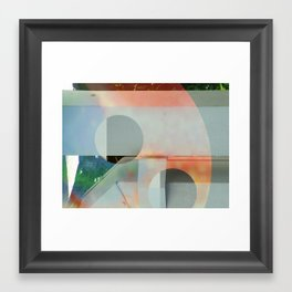 Wet Cement Framed Art Print