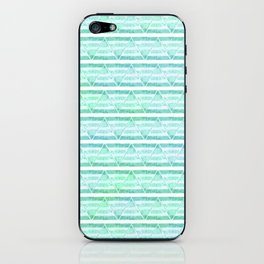 chevron blue&green iPhone Skin