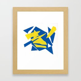Abstract blue one Framed Art Print