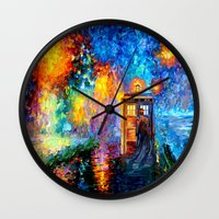 fandom Wall Clocks featuring The 10th Doctor who Starry the night Art painting iPhone 4 4s 5 5c 6, pillow case, mugs and tshirt by Three Second