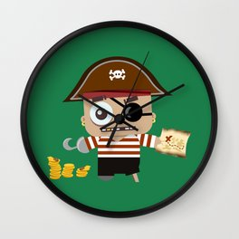 Baby Pirate Wall Clock