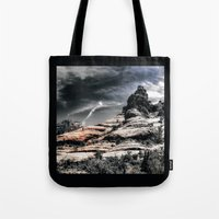 30 rock Tote Bags featuring Vortex ! by AwakeningLight