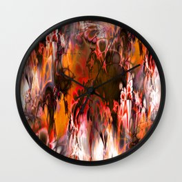 Marshmellow Skies (warm earth tones) Wall Clock