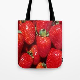 Garden Strawberries Tote Bag