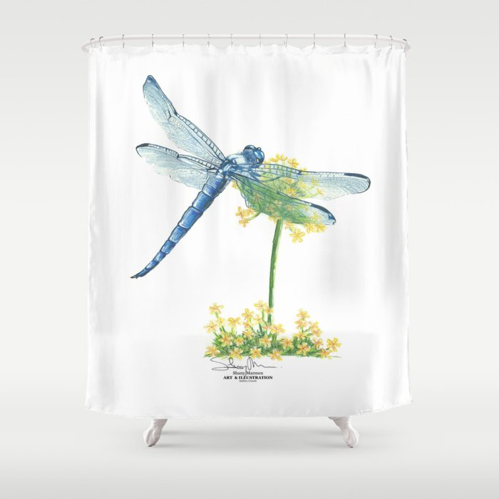 Dragonfly Shower Curtain By Shanymarmen