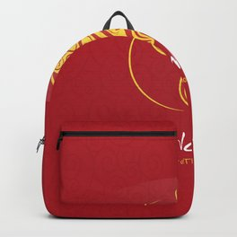 Chinese New Year poster for the year of the earth dog 2018 Backpack