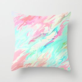 Sea of Spring Throw Pillow