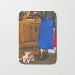 PHOTOGRAPHY - Bored dog Bath Mat