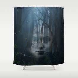 Portrait in the forest Shower Curtain