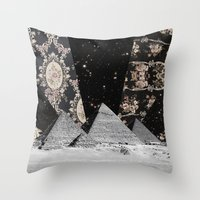 egypt Throw Pillows featuring Egypt by Mrs Araneae