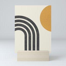 Mid century modern Sun & Rainbow Mini Art Print