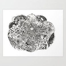 Inwards Art Print