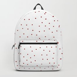 Simple Christmas seamless pattern Red Confetti on White Background Backpack