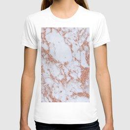 Intense rose gold marble T-shirt