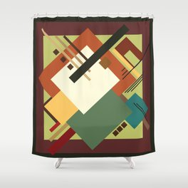 Geometric illustration 1 Shower Curtain