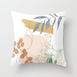 Line in Nature II Throw Pillow