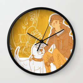 See a man about a dog Wall Clock