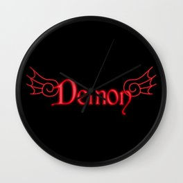 Demon with Wings Wall Clock