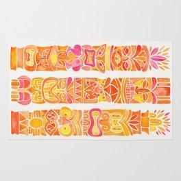 Tiki Totems – Orange Ombré Rug