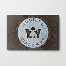 Queen's Jubilee Walkway Silver Walking Path near Buckingham Palace London England Metal Print