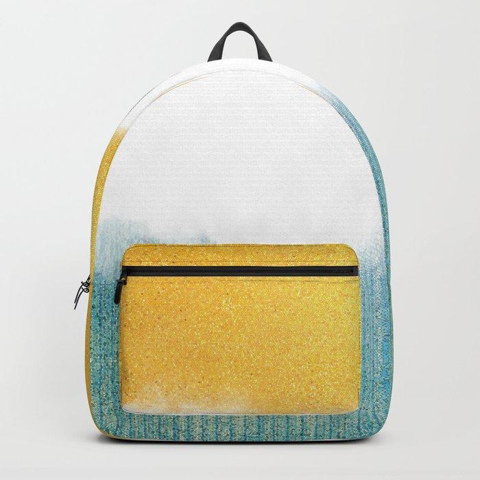 Teahupo'o, sea and sand Backpack
