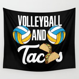Volleyball And Tacos Fast Food Sports Gift Wall Tapestry
