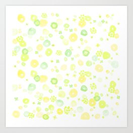 Yellow Floral Art Print