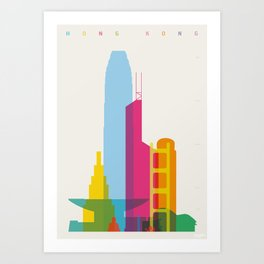 Shapes of Hong Kong. Accurate to scale Art Print