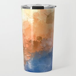 "Modern Contemporary "" Tranquility""Abstract Travel Mug"