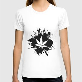 Canabis Black and white T-shirt