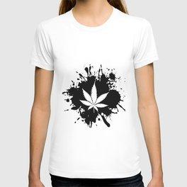 Canabis Black and white T-shirt