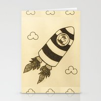 rocket Stationery Cards featuring rocket by Mariana Beldi