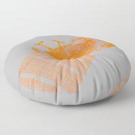 Explorer Orange and Grey Floor Pillow
