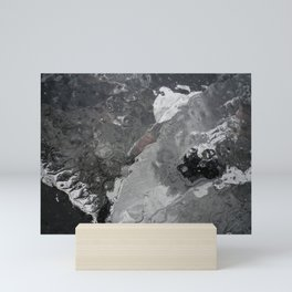 MERCURIAL SILVER GREY ICE ABSTRACT Mini Art Print