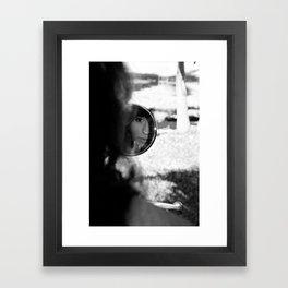 Girl in the mirror Framed Art Print