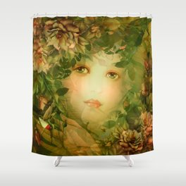 """The memory of an imagined childhood"" Shower Curtain"